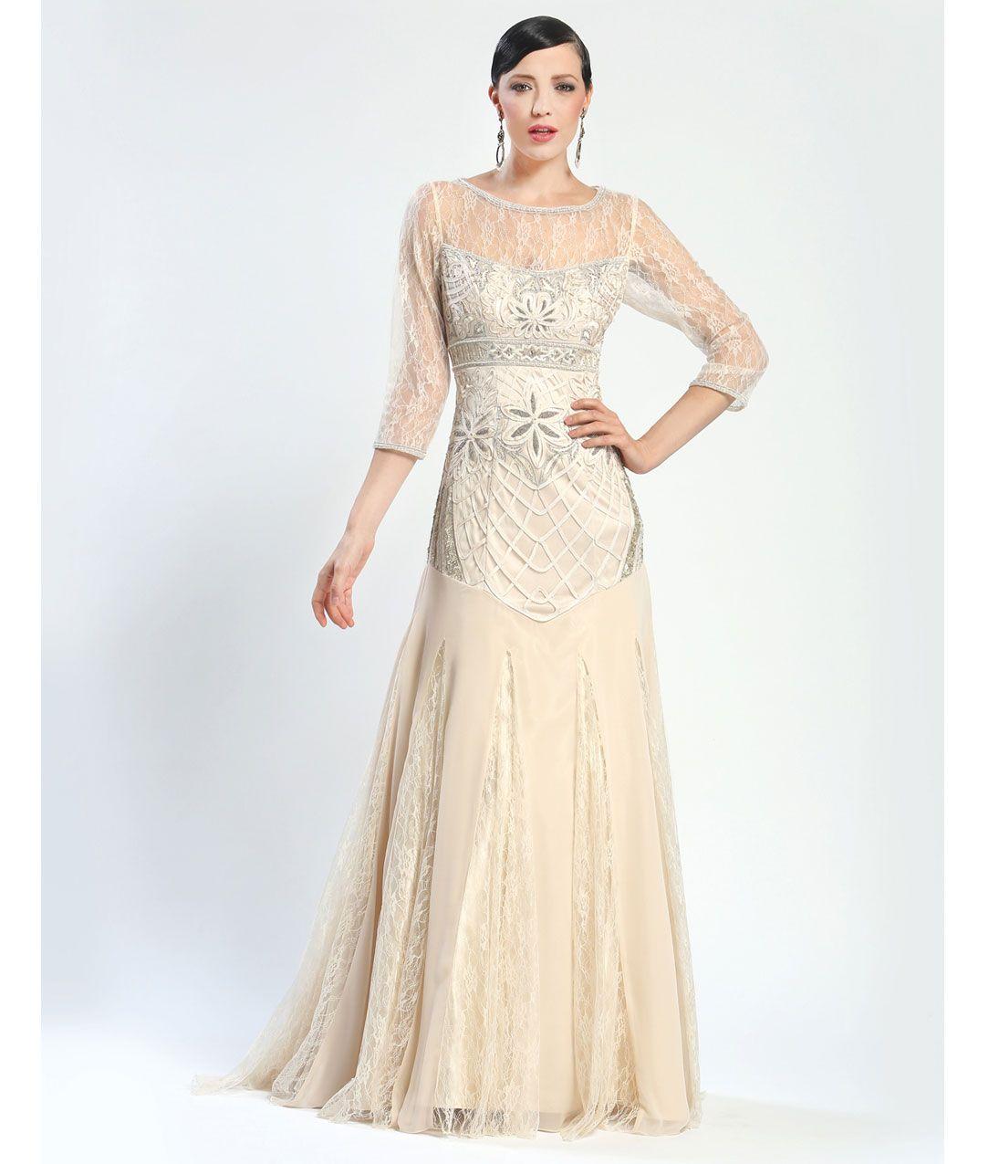 cream wedding dresses plus size