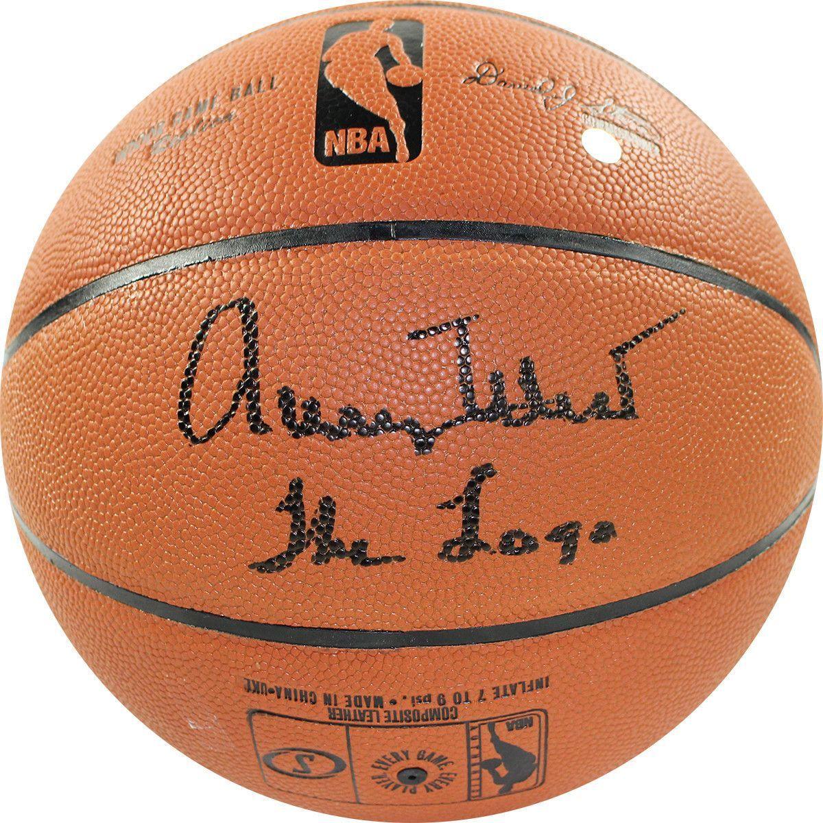 Jerry West Signed NBA I/O Basketball w/ 'The Logo' Insc