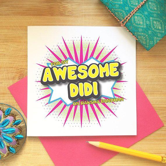 Rakhi Greeting Card - Didi, Sister, Raksha Bandhan, Indian Occasion, Awesome Didi, Comic Style, Super Hero, Indian Celebration, Desi #rakshabandhancards