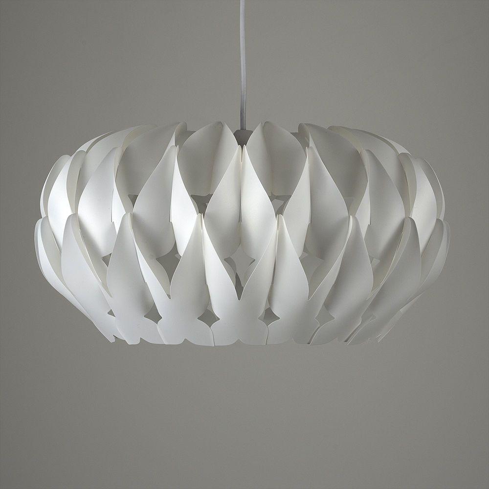 Modern Pendant Light Shade Matt White Pleated Origami Ceiling Lounge Lighting