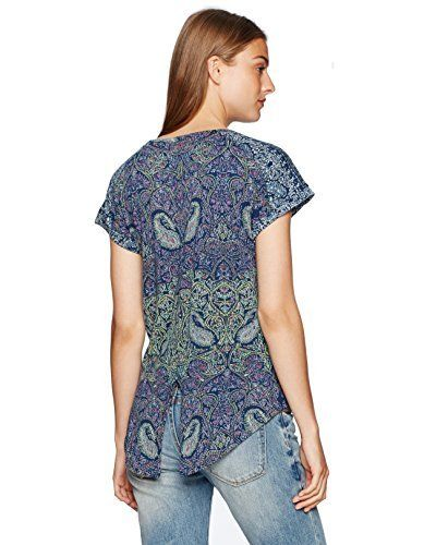 0f65859fdeb084 #womensfashion Lucky Brand Women's Paisley-Printed T-Shirt: At the moment,  you will discover Lucky Brand Women's… #womensclothing