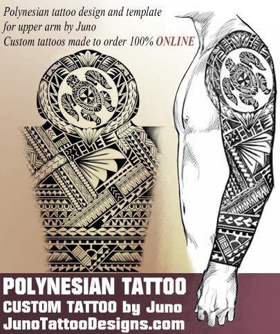 i can do a custom polynesian samoan tattoos templates online
