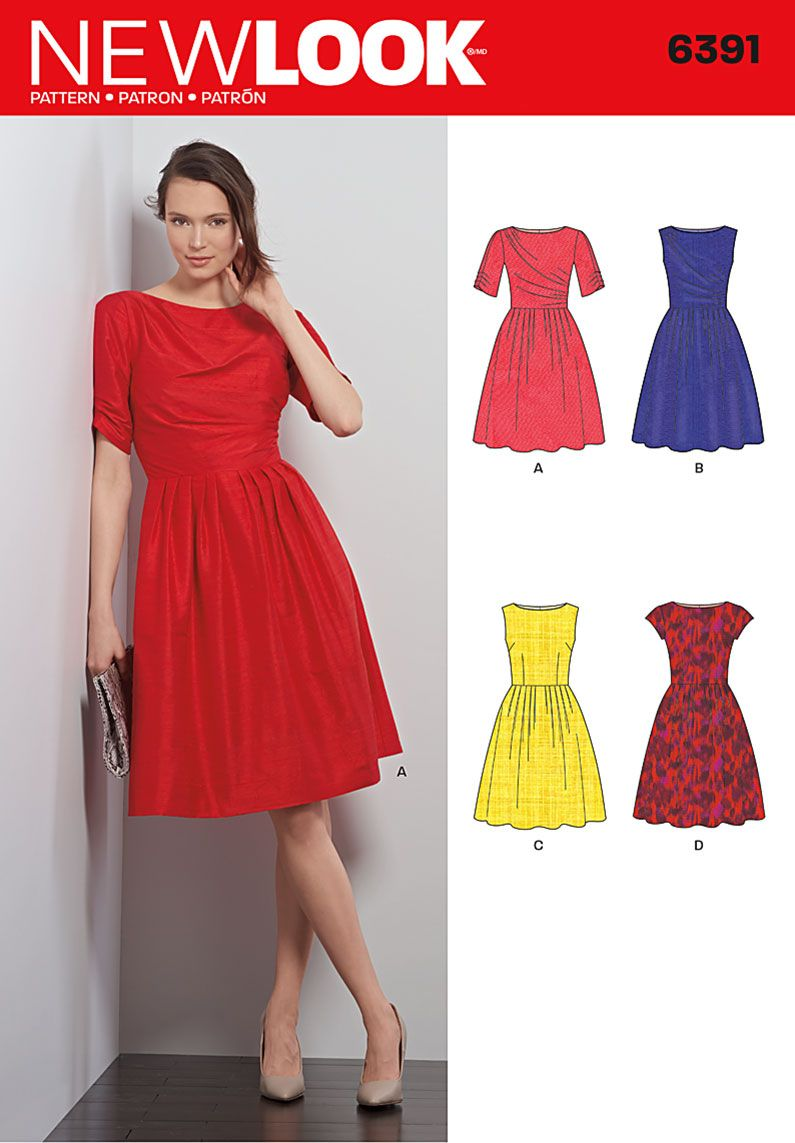 New look 6391 misses dresses sewing patterns patterns and fabrics pattern reviews new look 6391 misses dresses jeuxipadfo Image collections