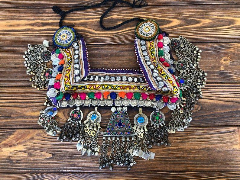 tribal pendant lapis pendant belly dancing vintage pendant SMALL Afghan Lapis pendant Vintage kuchi pendant