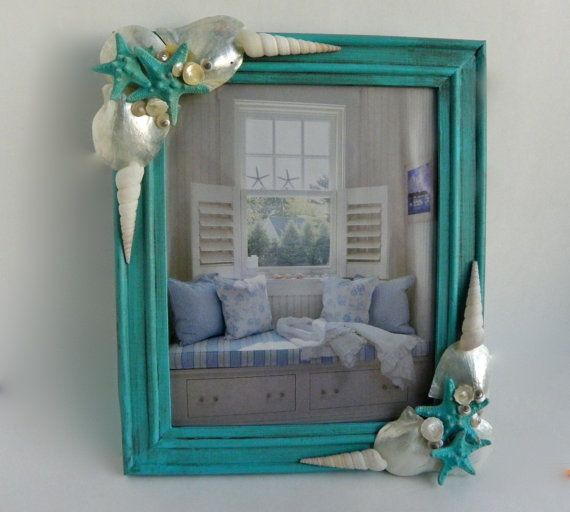 8 X 10 Seashell Picture Frame Pearlized By Sheerserendipity 50 00 Seashell Picture Frames Picture Frames Seashell Crafts