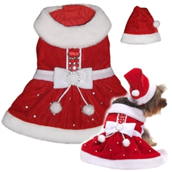 Santa Dress   Shilohs Dog Boutique