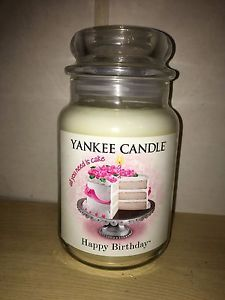 Yankee Candle 22oz 623g Large Jar Happy Birthday Deerfield RARE VHTF
