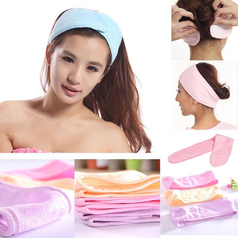 Image result for elastic soft adjustable towel wrap head band for make up spa ebay.ie