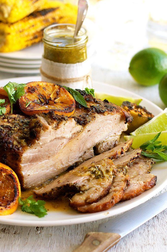 Juicy Cuban Mojo Pork Roast Chef Movie Recipe Pork Recipes Marinated Pork Pork