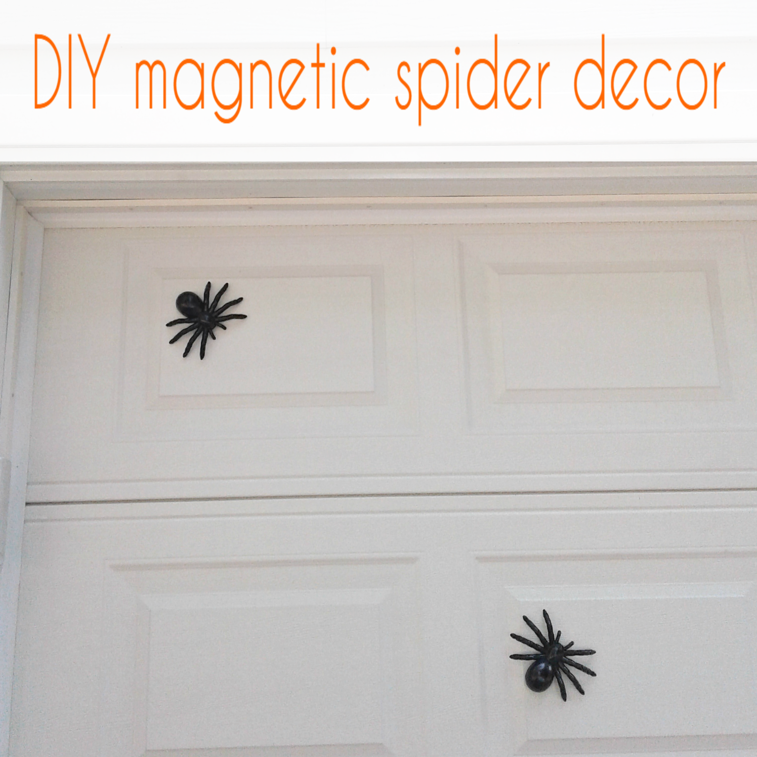 Make These Easy Diy Magnetic Spiders From The Dollar Store