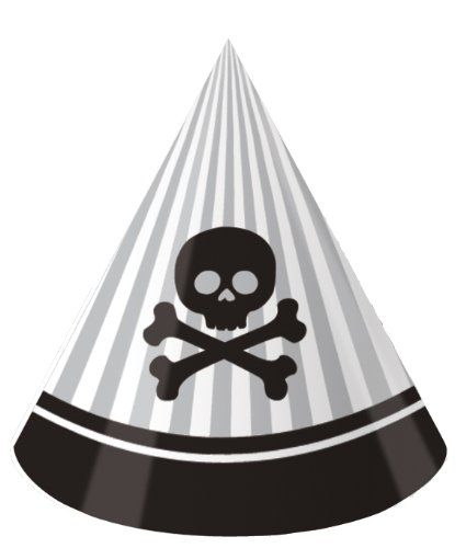Pirate Party Birthday Party Hats, 8 Count