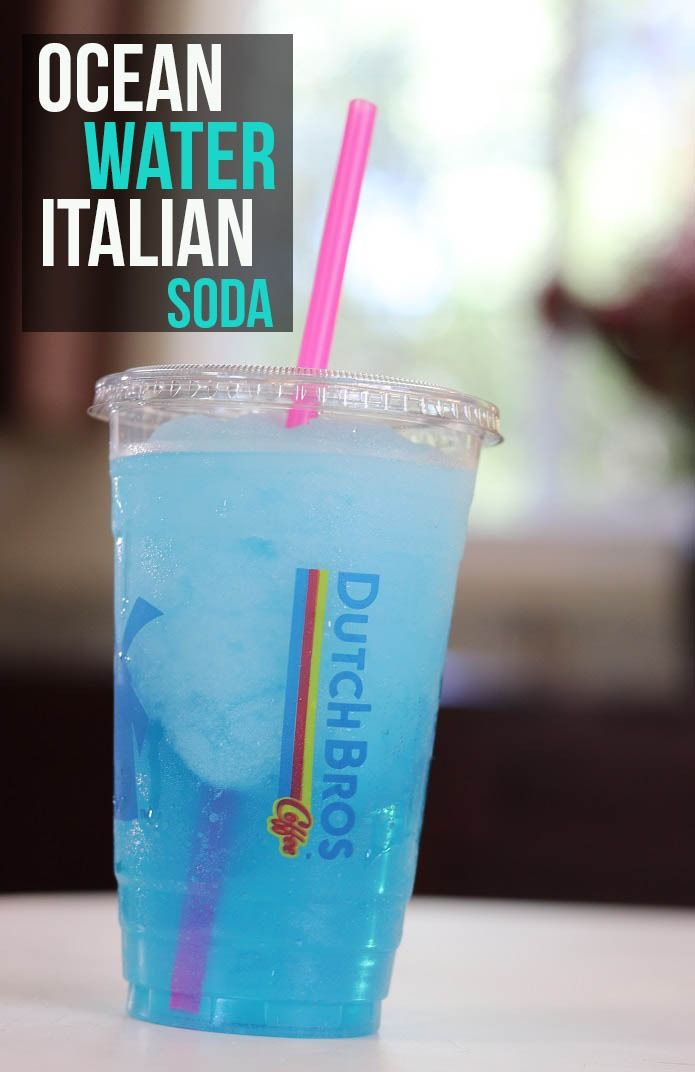 Dutch Bros Secret Menu Drink: Ocean Water Italian Soda #dutchbros