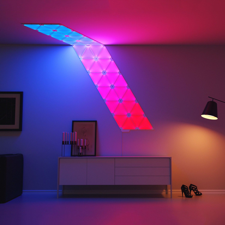nanoleaf aurora led sconce lighting