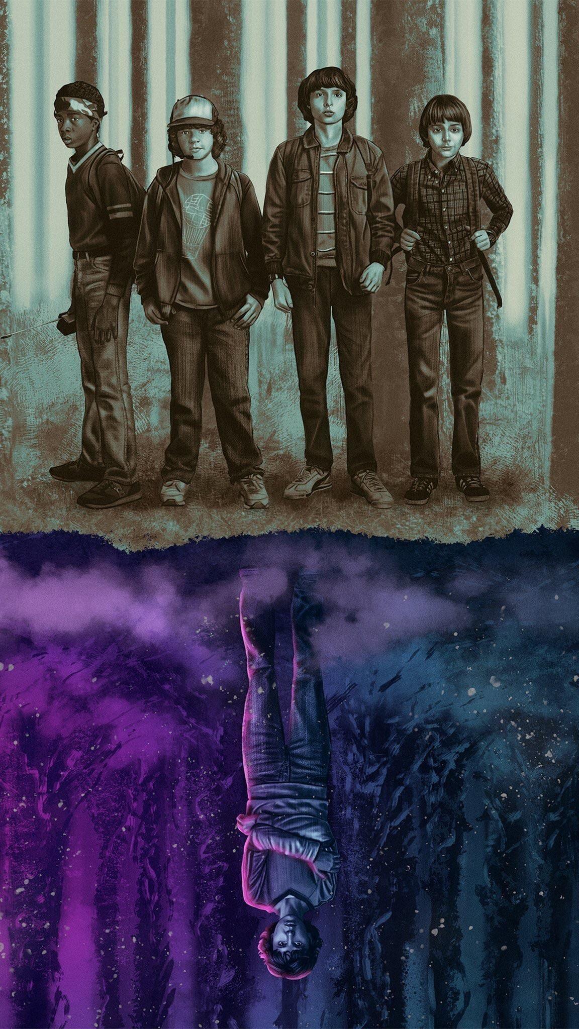 Mike(Finn Wolfhard), Lucas(Caleb McLaughlin), Dustin(Gaten