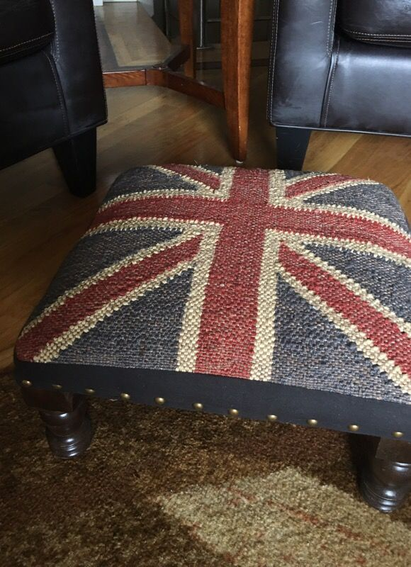 Union Jack Footstool Like New For Sale In Redmond Wa Great