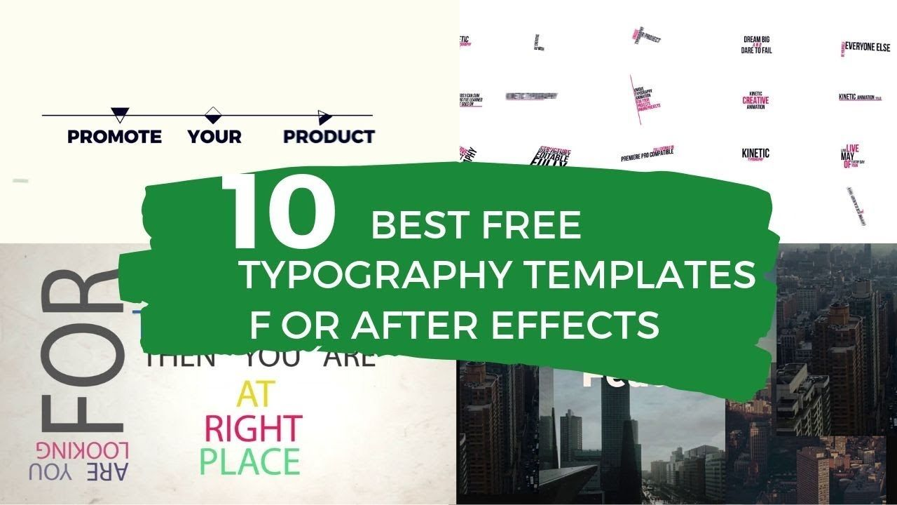 10 Best Free After Effects Typography Templates With Images