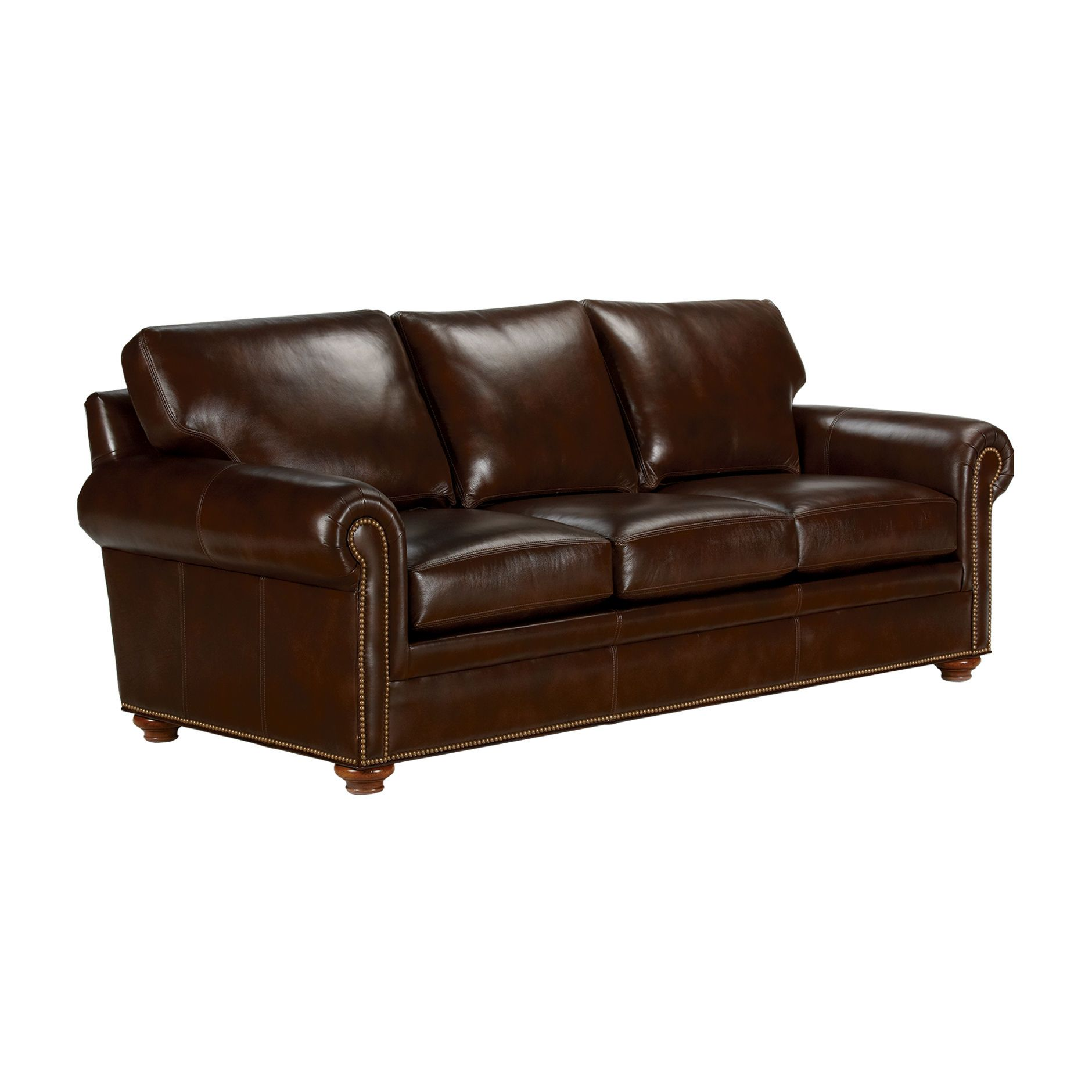 Conor Express Leather Sofa - Ethan Allen US | Equestrian | Leather ...