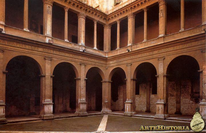 Bramante. Claustro de Santa María de la Paz, Roma