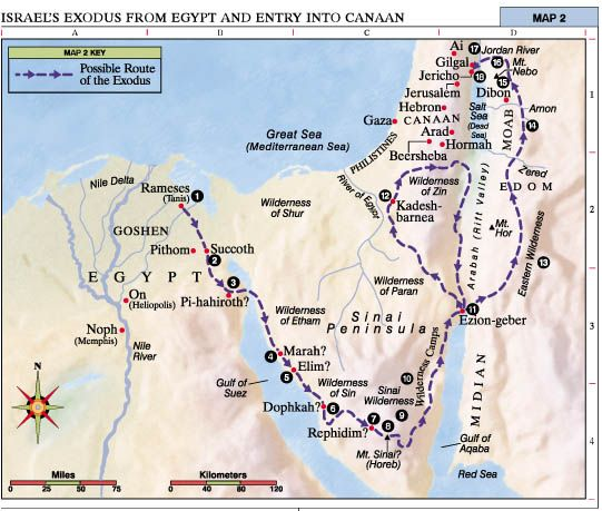 Israels Exodus From Egypt and Entry into Canaan  Bible Israel