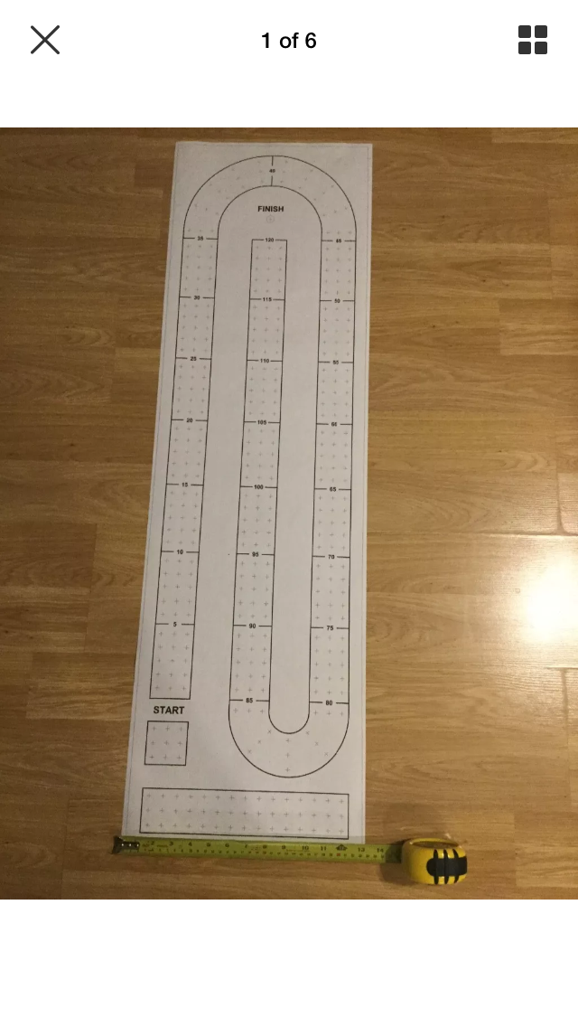 Large Cribbage Board Paper Template Is 13 1 4 X 44 Long Thumb Tack Or Tape To Of Your Choosing Lightly Mark Holes With A Punch