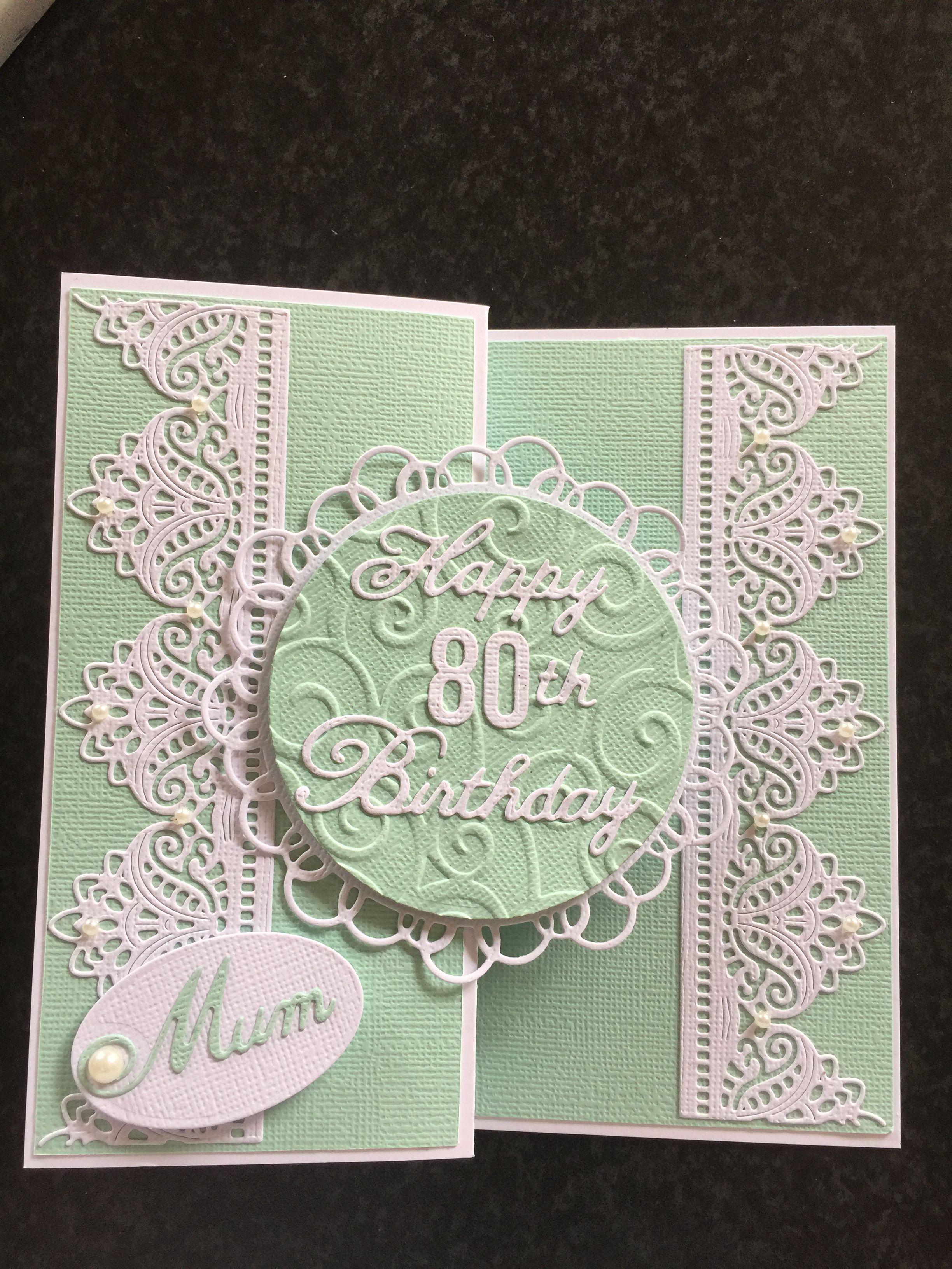female birthday card 80th  daughter birthday cards 80th