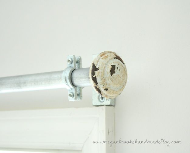 Diy Curtain Rod How To Make Your Own Megan Brooke Handmade Diy Curtain Rods Curtain Rods Diy Curtains