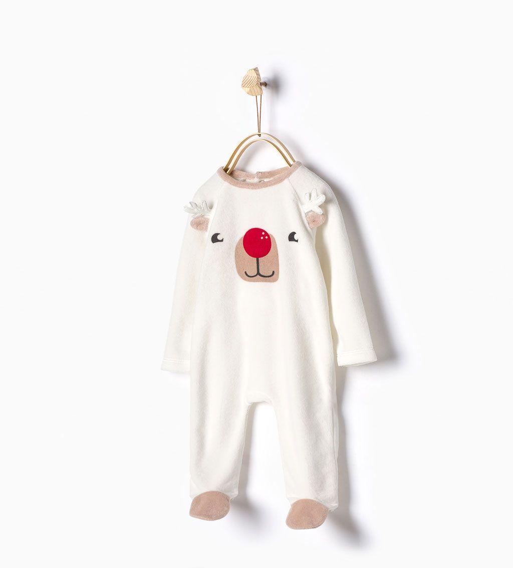 096fc51abe54b Pyjama en velours à tête de renne-Sous-vêtements et pyjamas-Bébé garçon-Bébé
