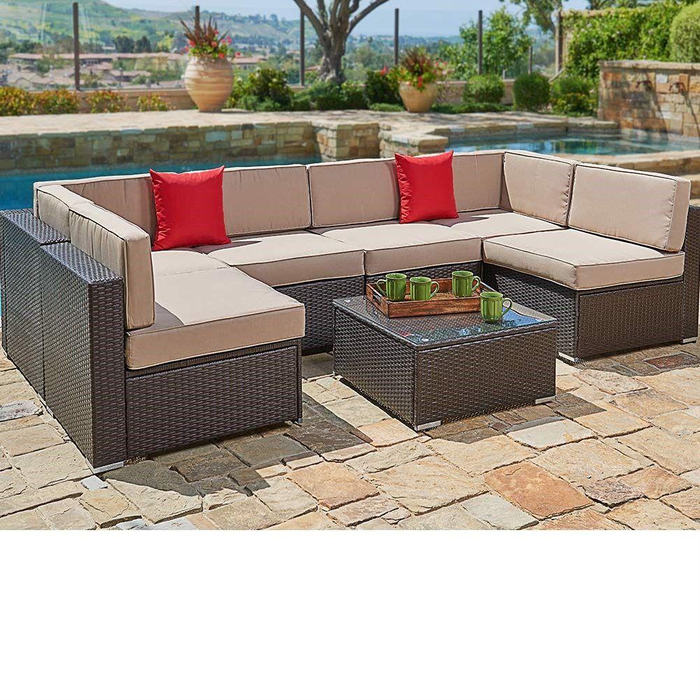Suncrown Outdoor Sectional Sofa Patio Sofa Set Outdoor