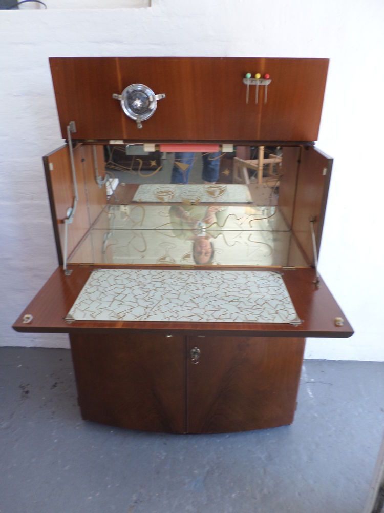Vintage Cocktail Cabinet 1950s 1960s Drinks Bar Retro Cocktail