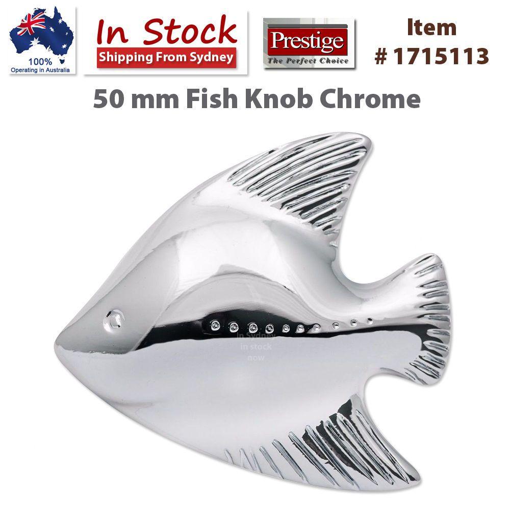 Prestige 50 mm Fish Knob Chrome #1715113 | Fish and 50th