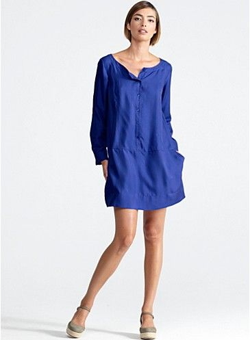 Eileen Fisher Spring 2013   I love this little tunic/ dress. Look at those perfect pockets and neckline!