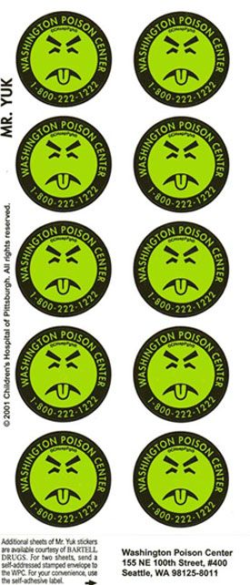 Remember Mr Yuk Stickers I Wonder If These Are Still Used My