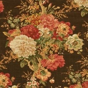 Image Result For Waverly English Garden Printed Cotton Drapery Fabric In Brown Floral Drapery Floral Drapery Fabric Waverly Fabric