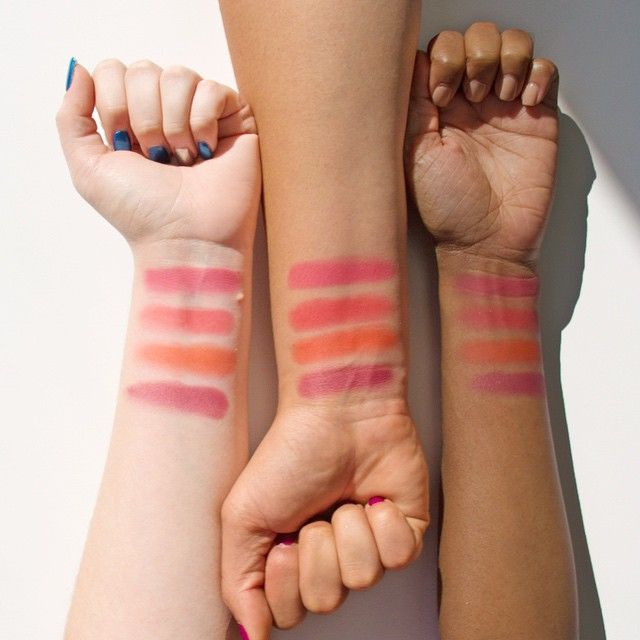 Blush swatches are available on the site. Go check it out 💃💃 #swatches #YASS #ColourPopHopsIntoSpring