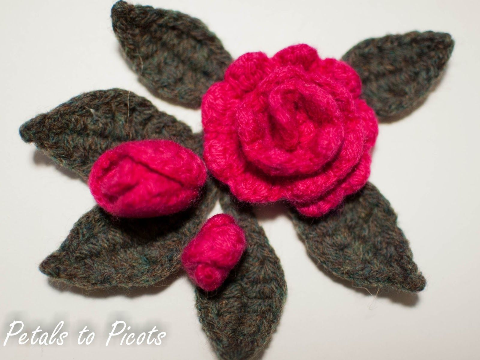 Rosebud and leaf pattern to embellish a burlap wreath rose crochet rosebud and leaf pattern free pattern from petals to picots bankloansurffo Image collections