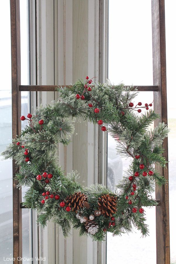 DIY ideas Rustic Holiday Porch Decor