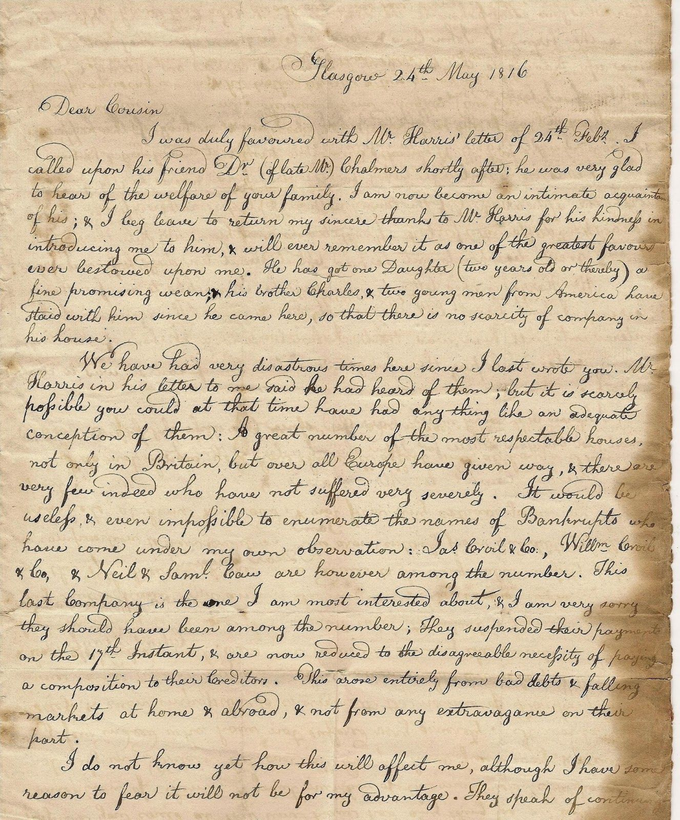 Handwritten Letter From My Personal Collection Of