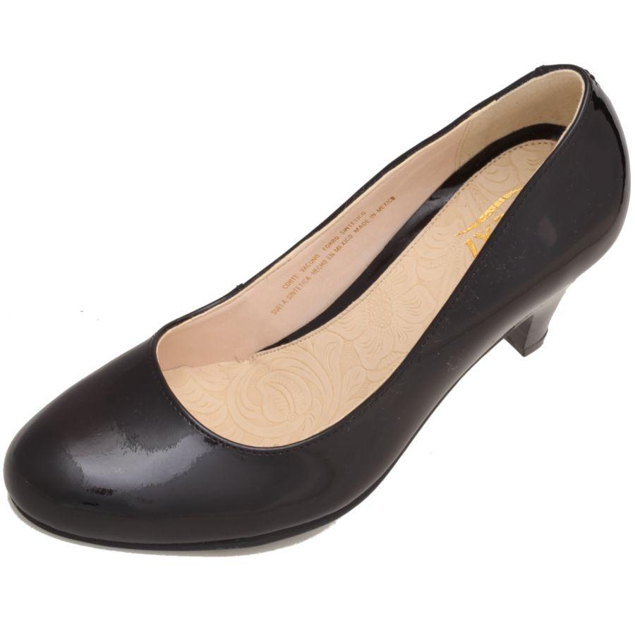 033f2a40 Zapatilla de #Tacón para #Mujer en marca #Flexi color negro piel ...