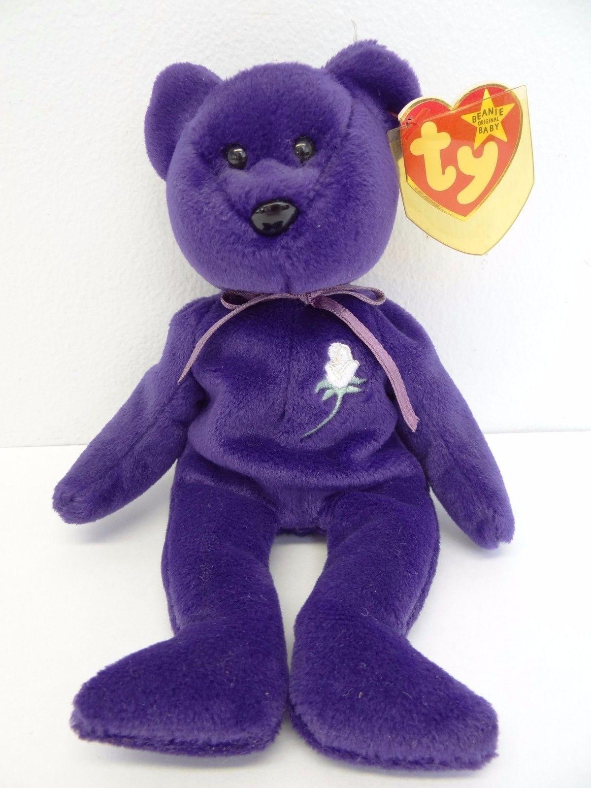 Original 1997 Purple Rare Retired China Princess Di Diana Ty Beanie Baby Bear 10 000 00 Beanie Baby Bears Princess Diana Beanie Baby Original Beanie Babies