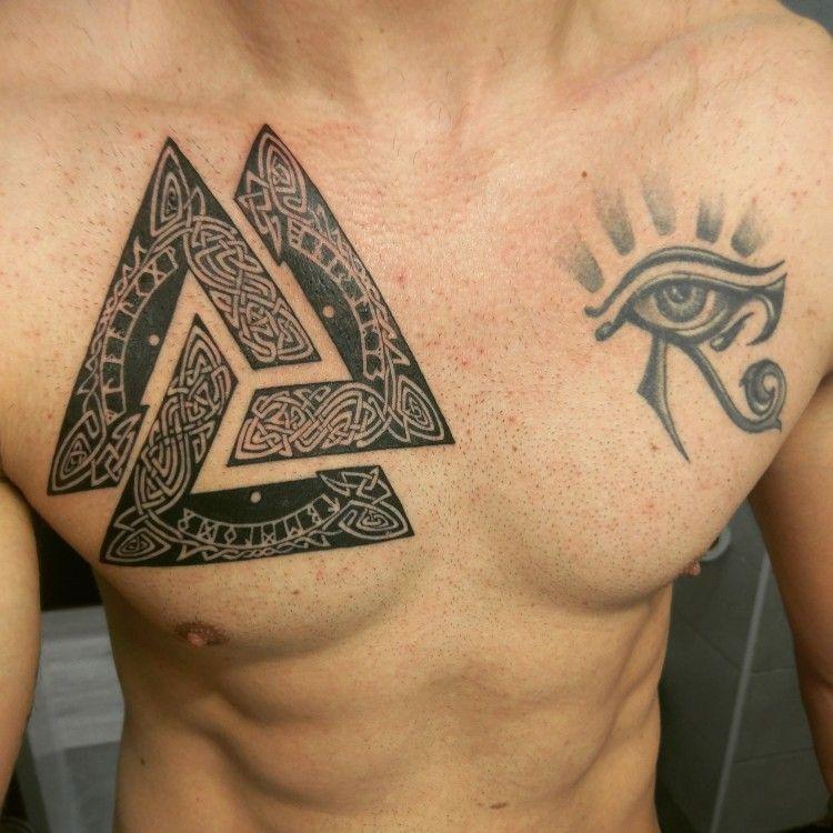 Valknut tattoo tattoos pinterest tattoo viking for Valknut symbol tattoo