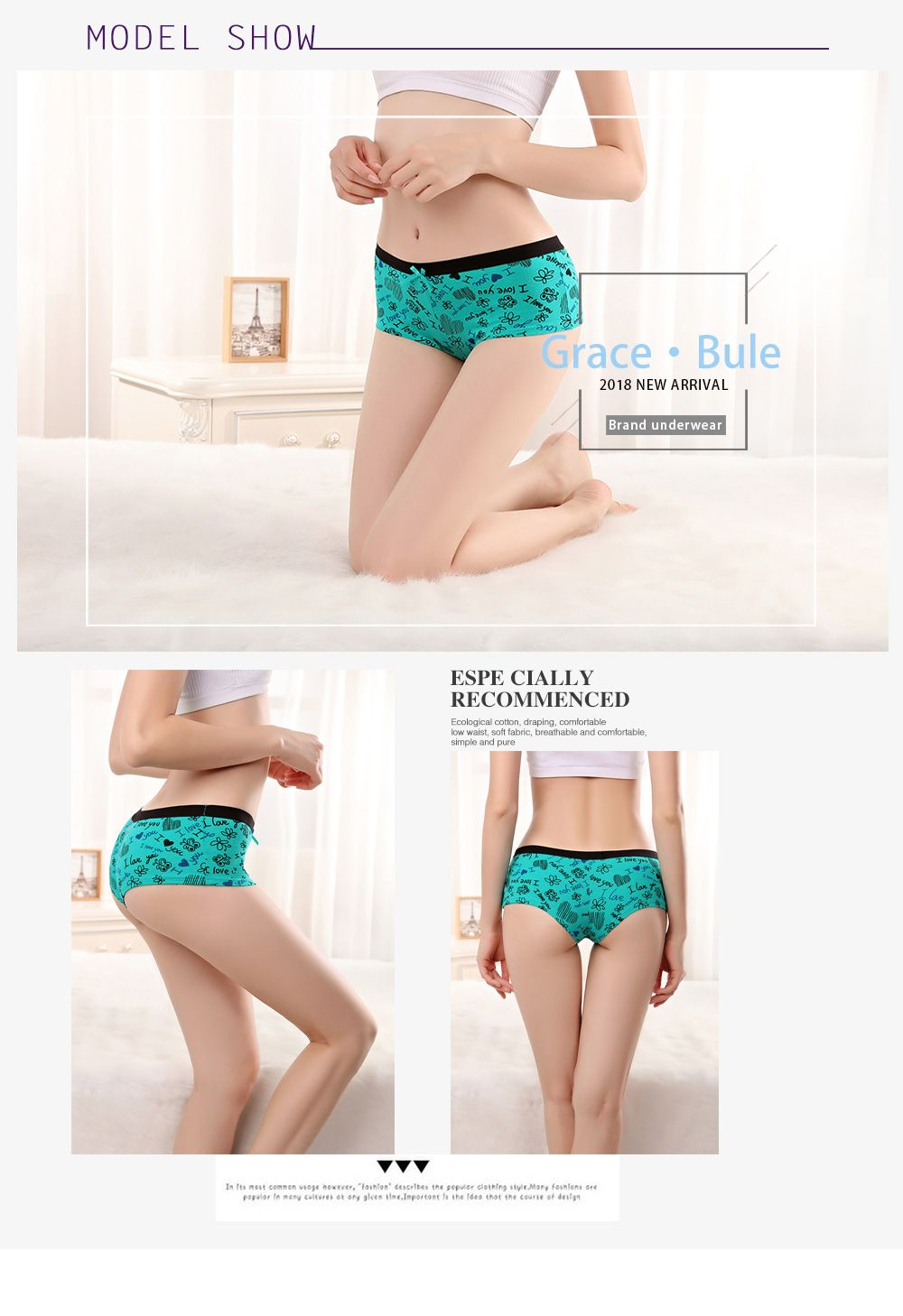e74b0581f00e Underwear Women Sexy Boyshort Transparent Lace Floral Briefs Cotton Ladies  Panties Low-rise Embroidery Boxer