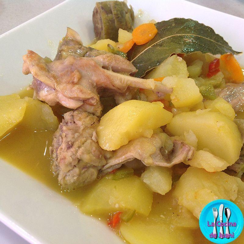 Estofado de conejo de mamá, una receta sencilla y deliciosa, de aquellas que nos hacían nuestras madres y de las que solo dejábamos los huesos.