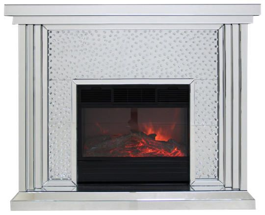 Mirrored Glass Floating Crystal Fire Surround 74082 P Jpg 540 438 Fireplace Mirror Home Fireplace Mirror Fireplace Mantle