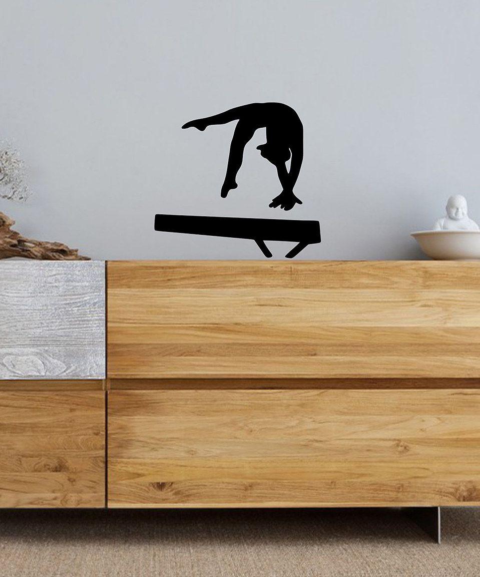 Look at this #zulilyfind! Black Gymnast Beam Decal by Bay Wear #zulilyfinds
