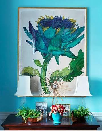 Casa de la turquesa: turquesa y azul