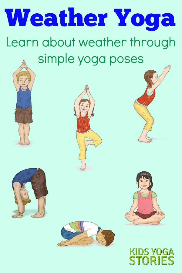 Weather Activities For Kids Yoga Printable Poster Kids Yoga Stories Yoga Resources For Kids Yoga For Kids Kids Yoga Poses Weather Activities For Kids