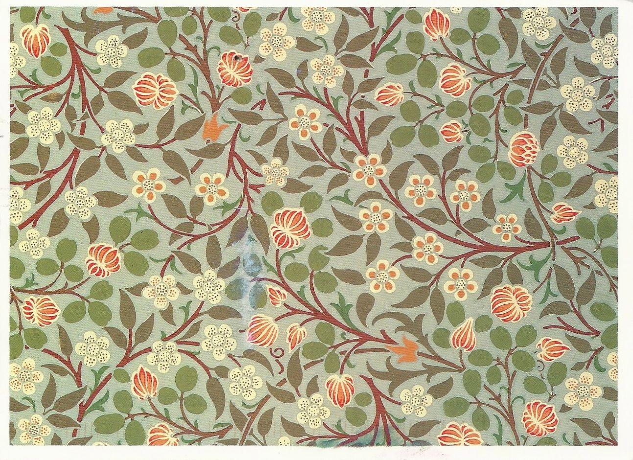 Arts and crafts movement design - Arts And Crafts Movement Floral Pattern