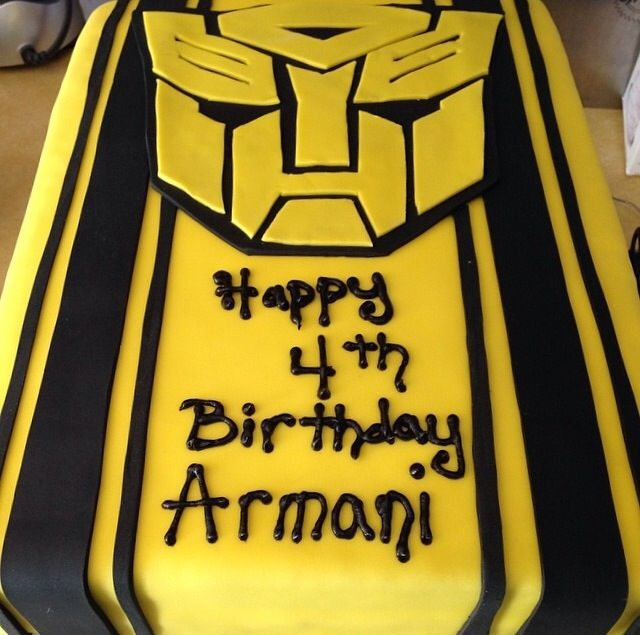 Transformers Bumblebee Cake 5th Birthday Baby Boy Ideas