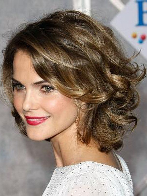 Wavy Short Hairstyles Short Hairstyles For Women Curly Hair Easy Short Curly Hairstyles Hair Styles Thick Hair Styles Hair Lengths