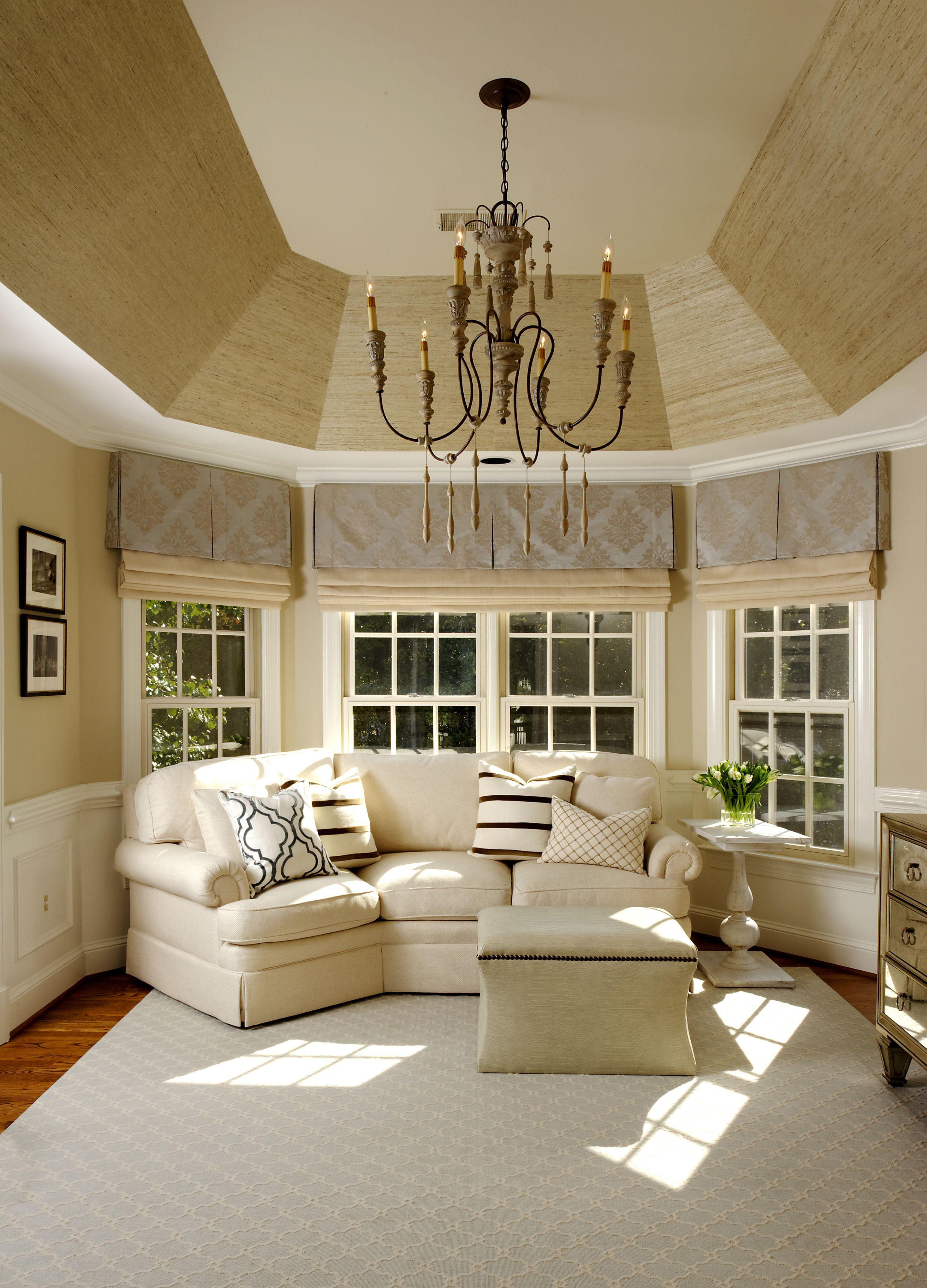 Best Sisal Wallpaper On Tray Ceiling Master Bedroom Makeover 640 x 480